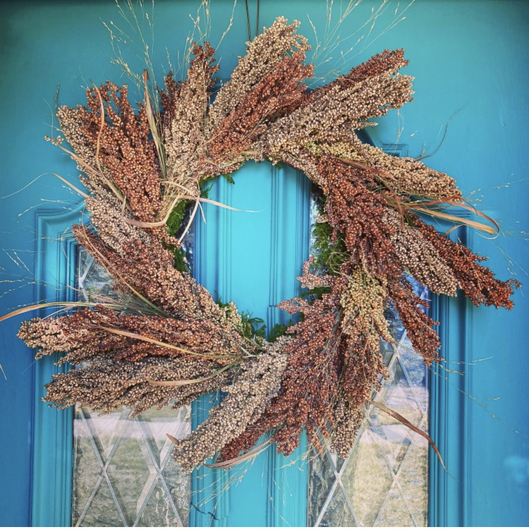 Sassy Sorghum Wreath