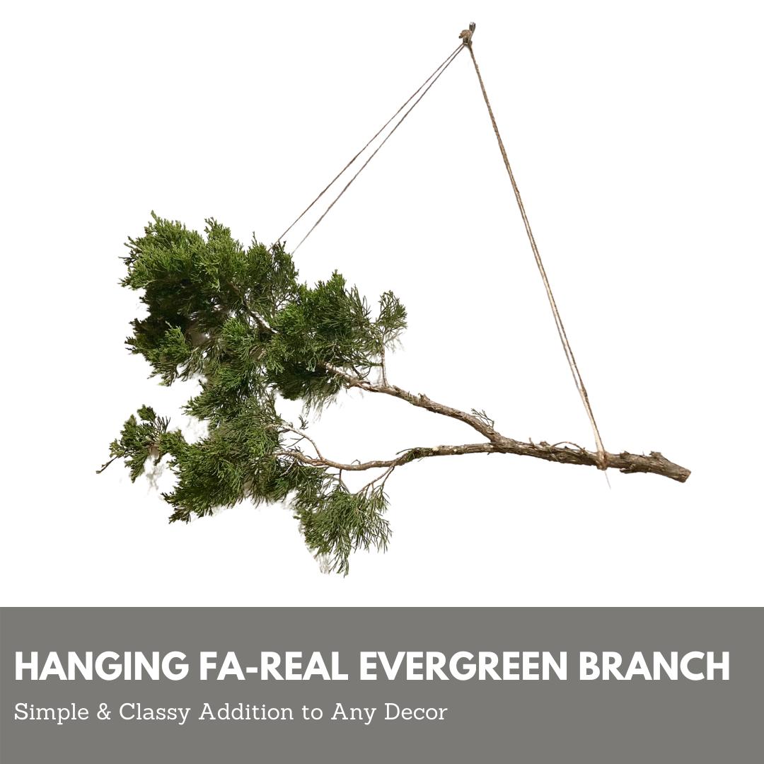 Fa-Real Evergreen Branch Decor