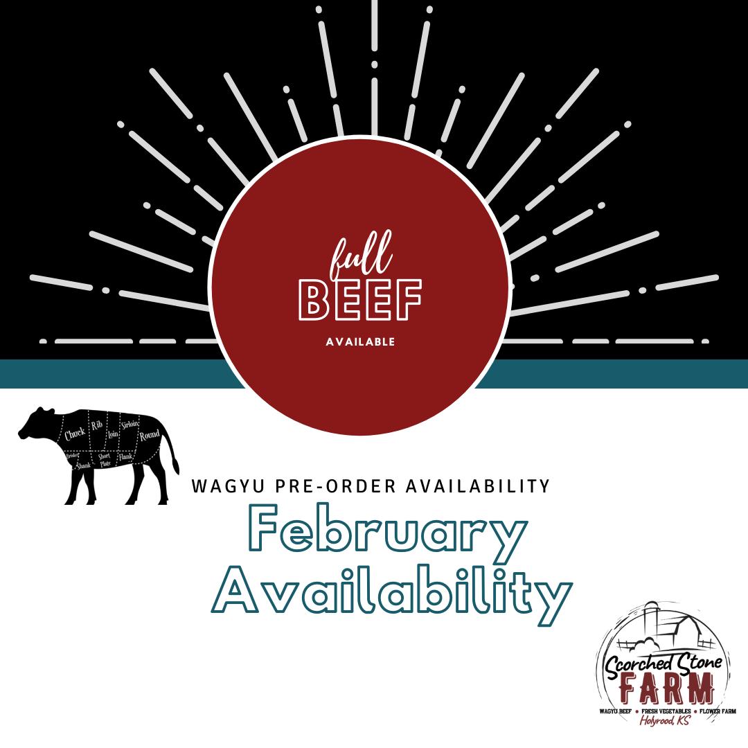 February Wagyu Beef Availability