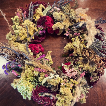 Bountiful Blooms Bespoke Wreath