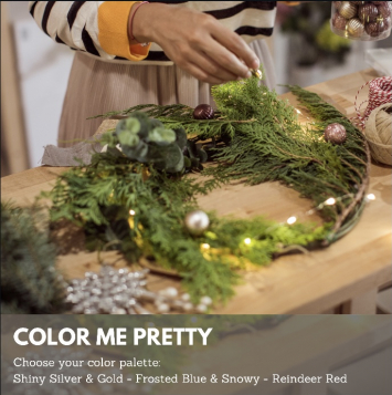 Color Me Pretty Holiday Wreath