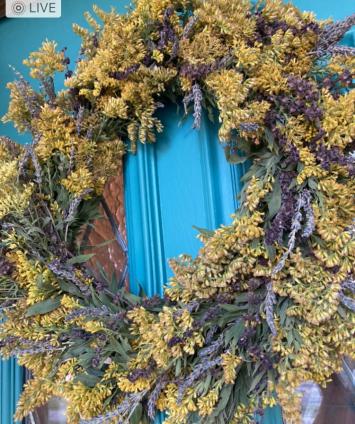 Dried Goldenrod & Lavender Wreath