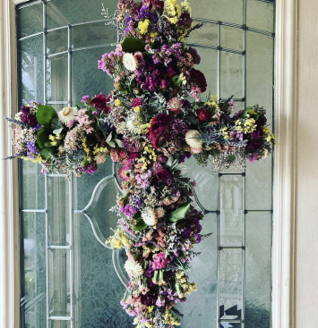 Handcrafted Dried Floral Cross