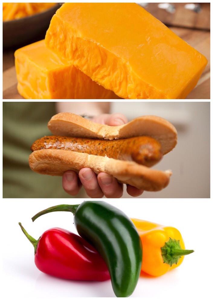 Jalapeño and Cheese Brats Links