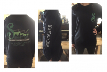 Serendipity farms long T-shirt XL (woman's)