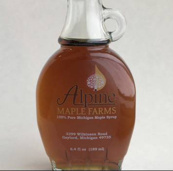 Glass Oval Maple Syrup