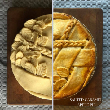 Take and Bake Salted Carmel Apple Pie