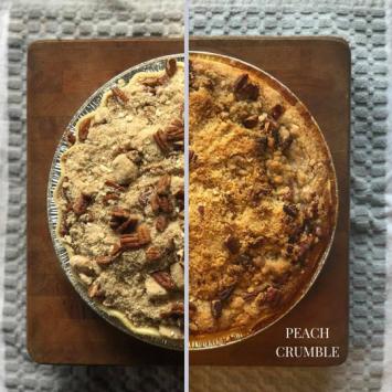 Take and Bake Peach Crumble Pie