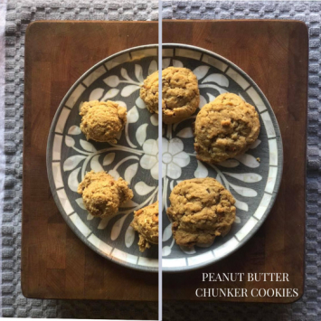 Take and Bake Peanut Butter Chunker Cookies