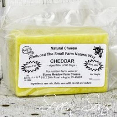 Sunny Meadows Cheddar Cheese (RAW)