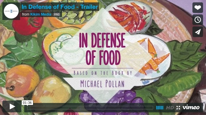 Michael Pollan's food advice hits the big screen