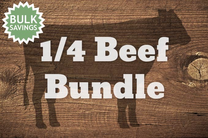 1/4th Beef - 90lb. Bundle