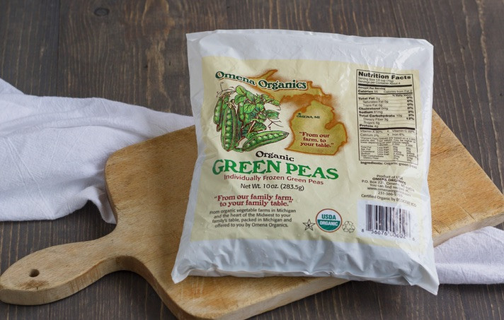 10 PK Organic Green Peas