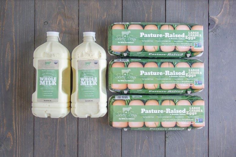 Fresh Milk and Eggs Box