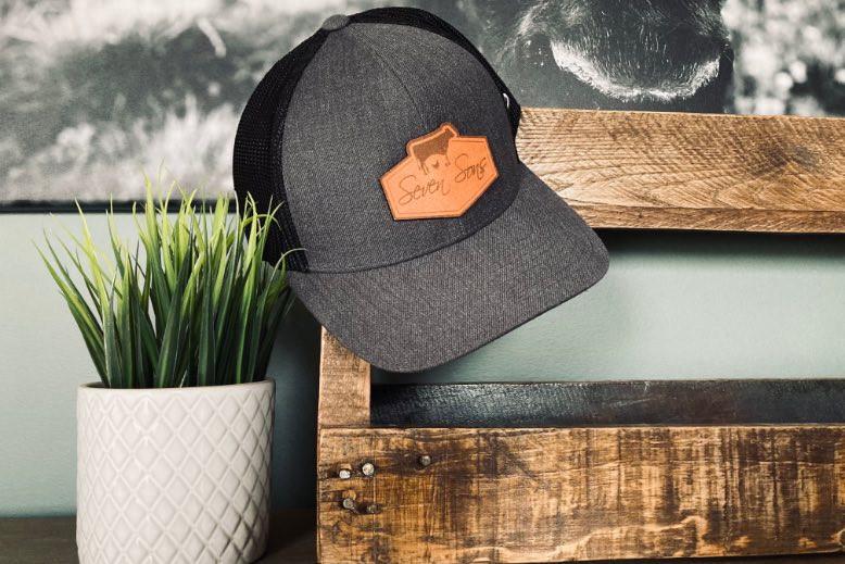 Seven Sons Trucker Style Cap (Charcoal/Black)