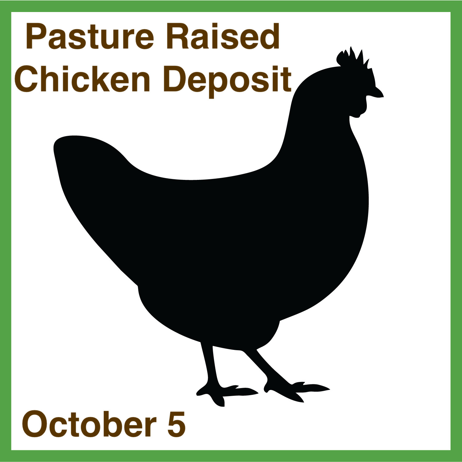 Chicken-Pasture Raised (Deposit October 5)