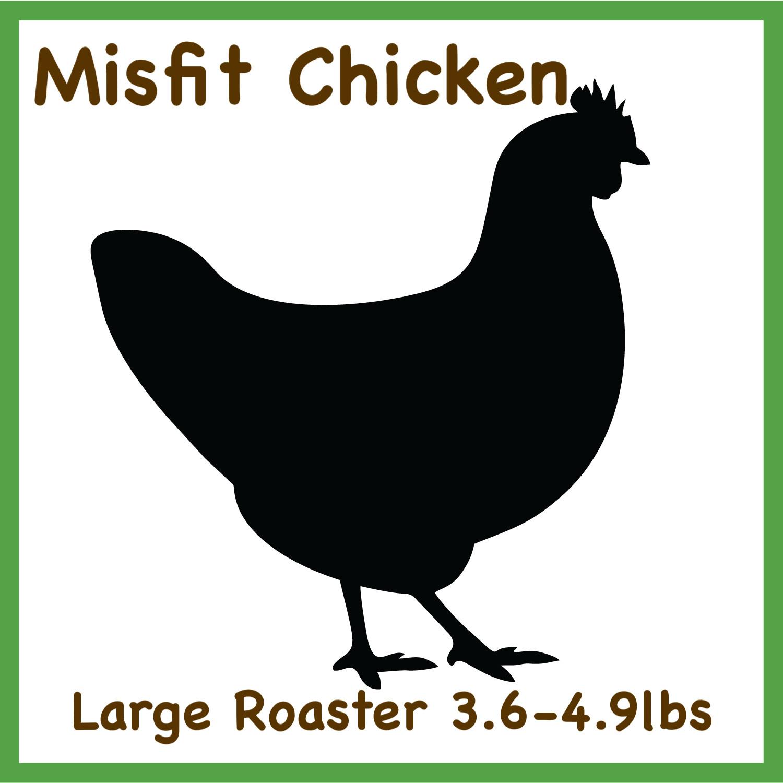 Misfit Chicken-Large 3.5-4.9lbs Whole Roaster Pasture Raised
