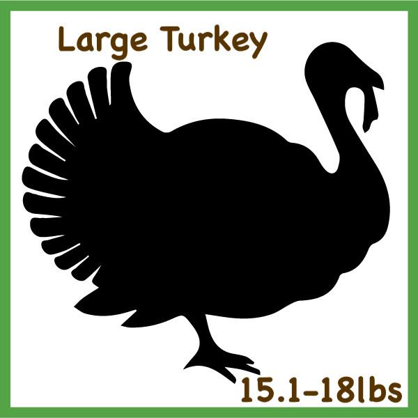 Large Turkey 15.1-18 lb Pasture Raised -Whole