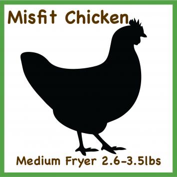 Misfit Chicken-Medium 2.6-3.5 Whole Fryer Pasture Raised
