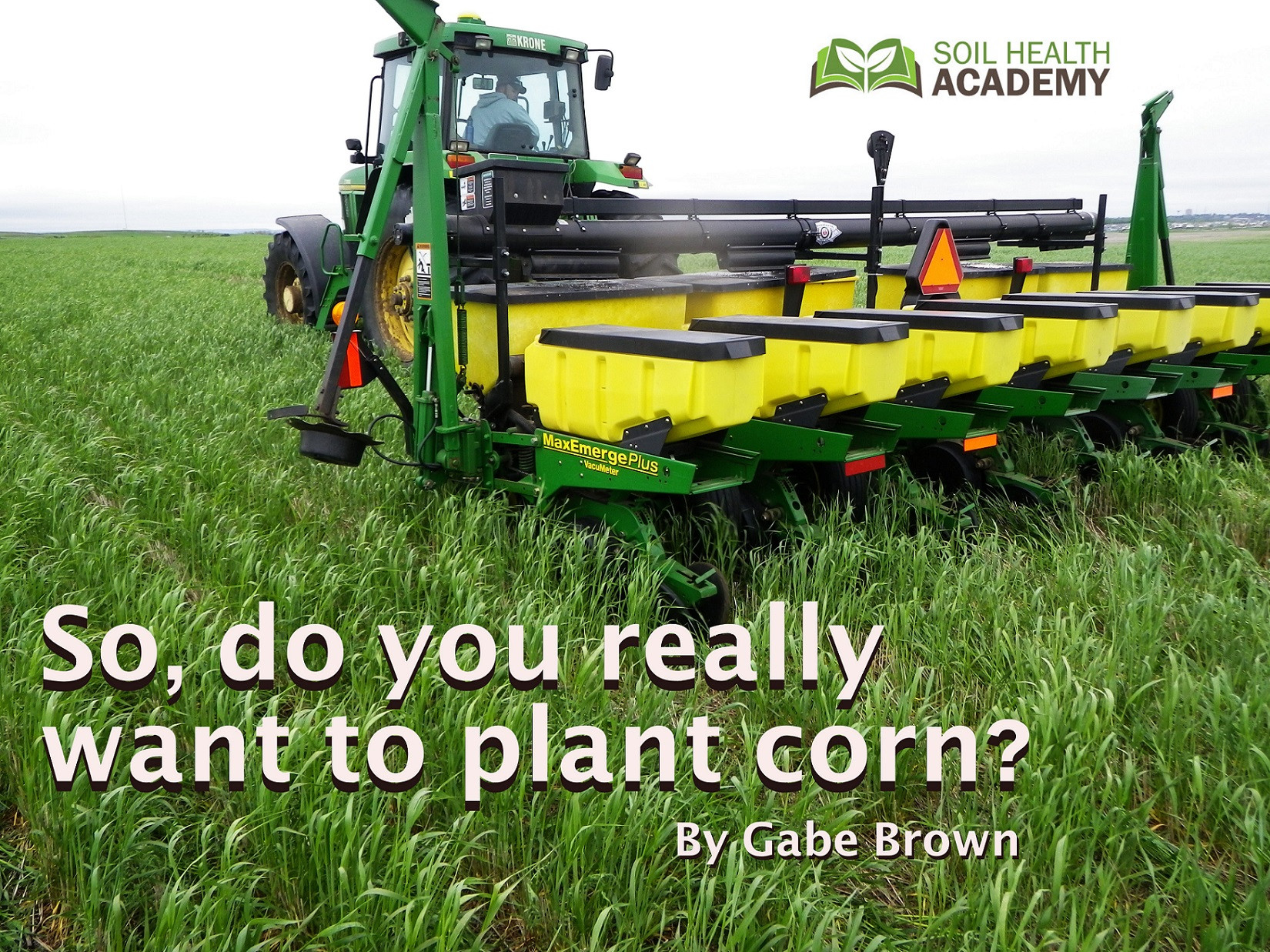 So, do you really want to plant corn?
