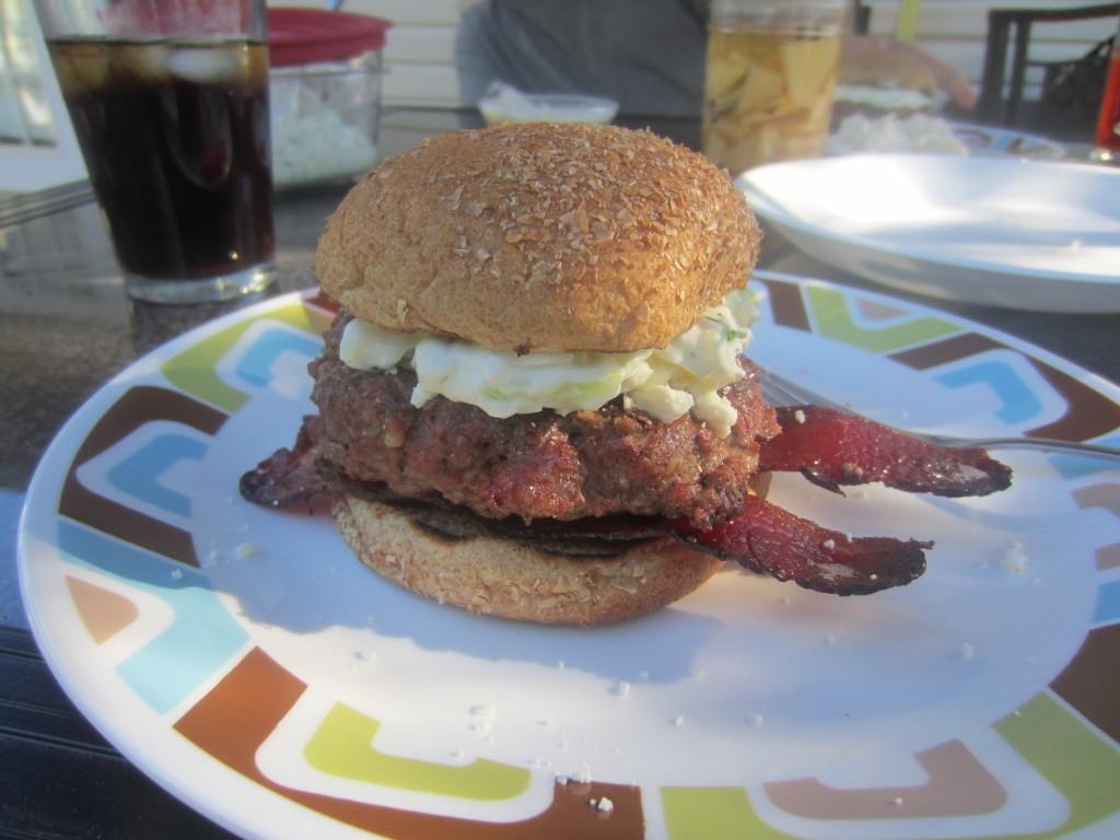 Goat Burgers w/ Tzatziki Sauce