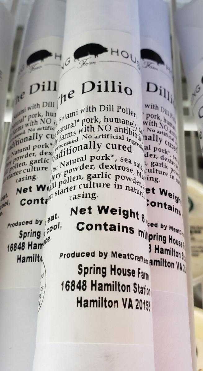 Spring House Farm Salami - Dillio