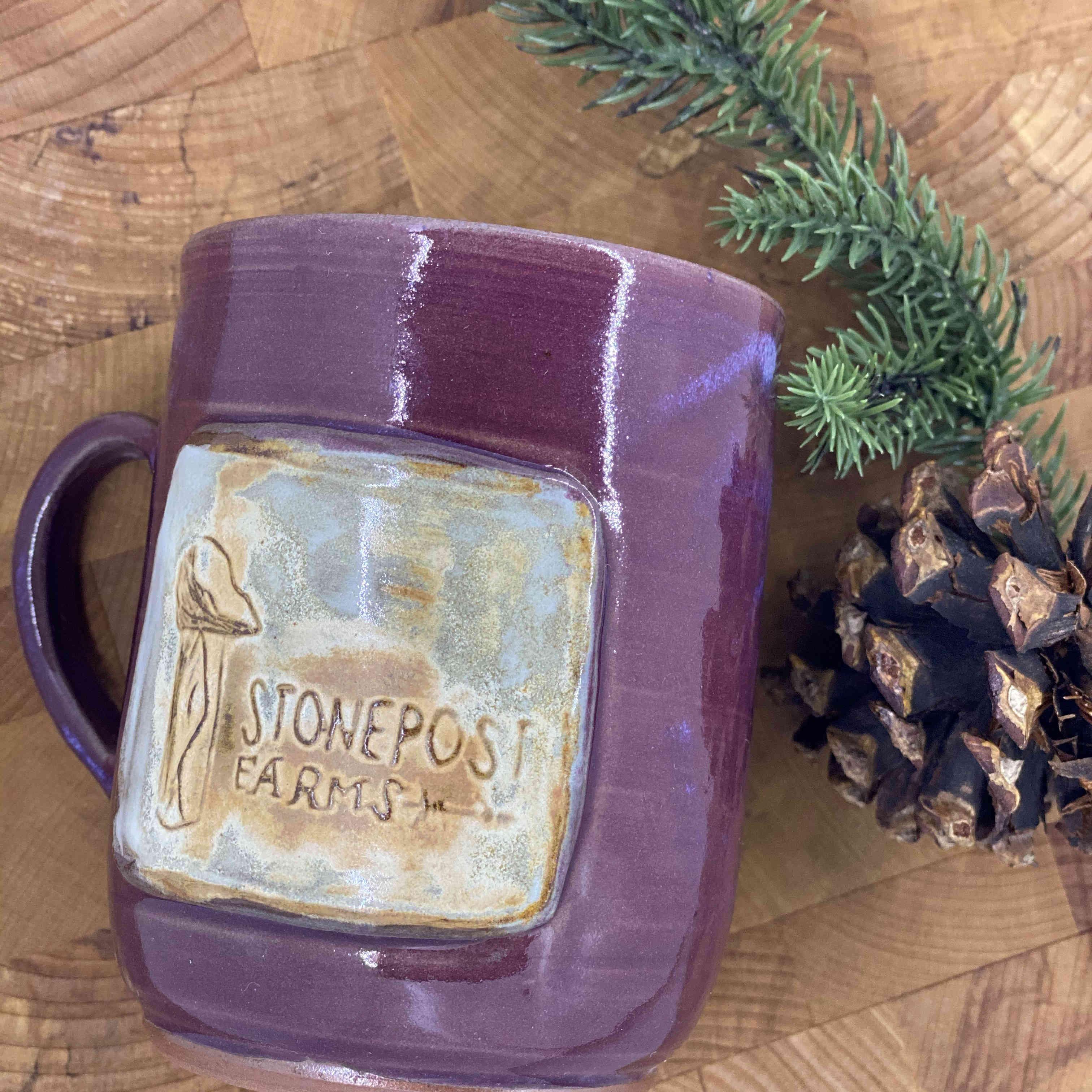 Handmade Farm Mug - Purple (tall)