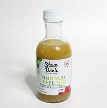 Steve and Dan's 100% Canadian Apple Juice - 473 ml glass bottle