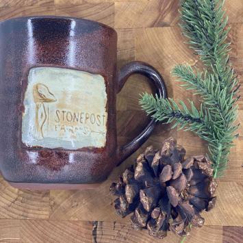 Handmade Farm Mug - Brown (right handle)
