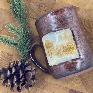 Handmade Farm Mug - Brown (left handle)