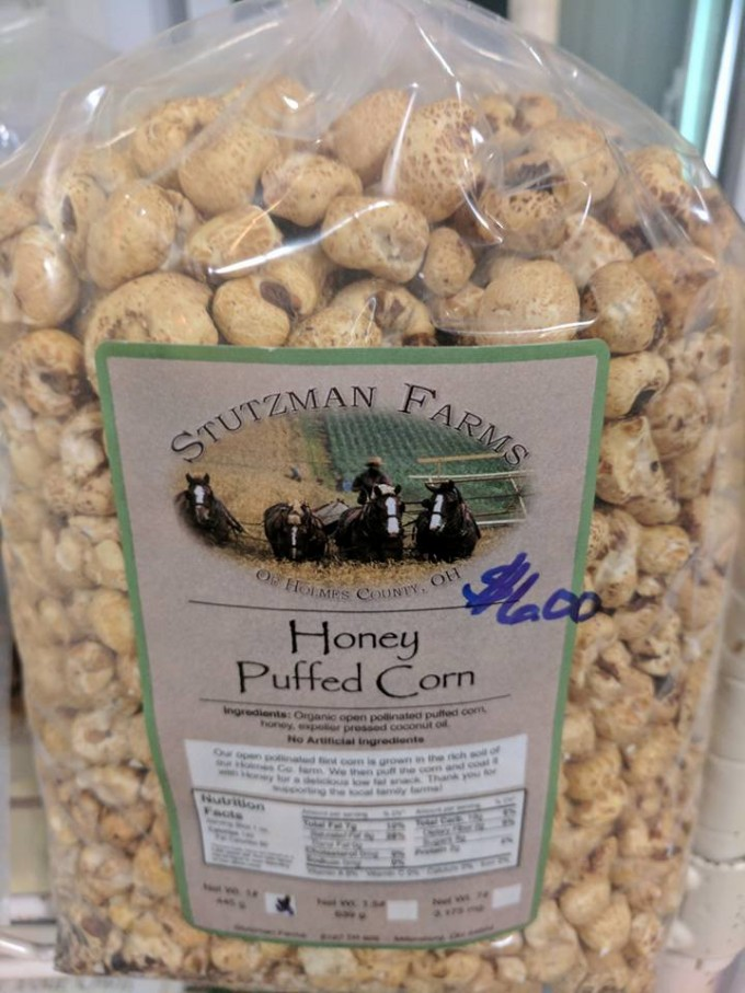 Honey Puffed Corn