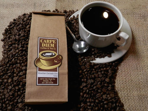 Carpe Diem - Fresh roasted coffee-Brazilian Oro medium roast (Whole Bean)