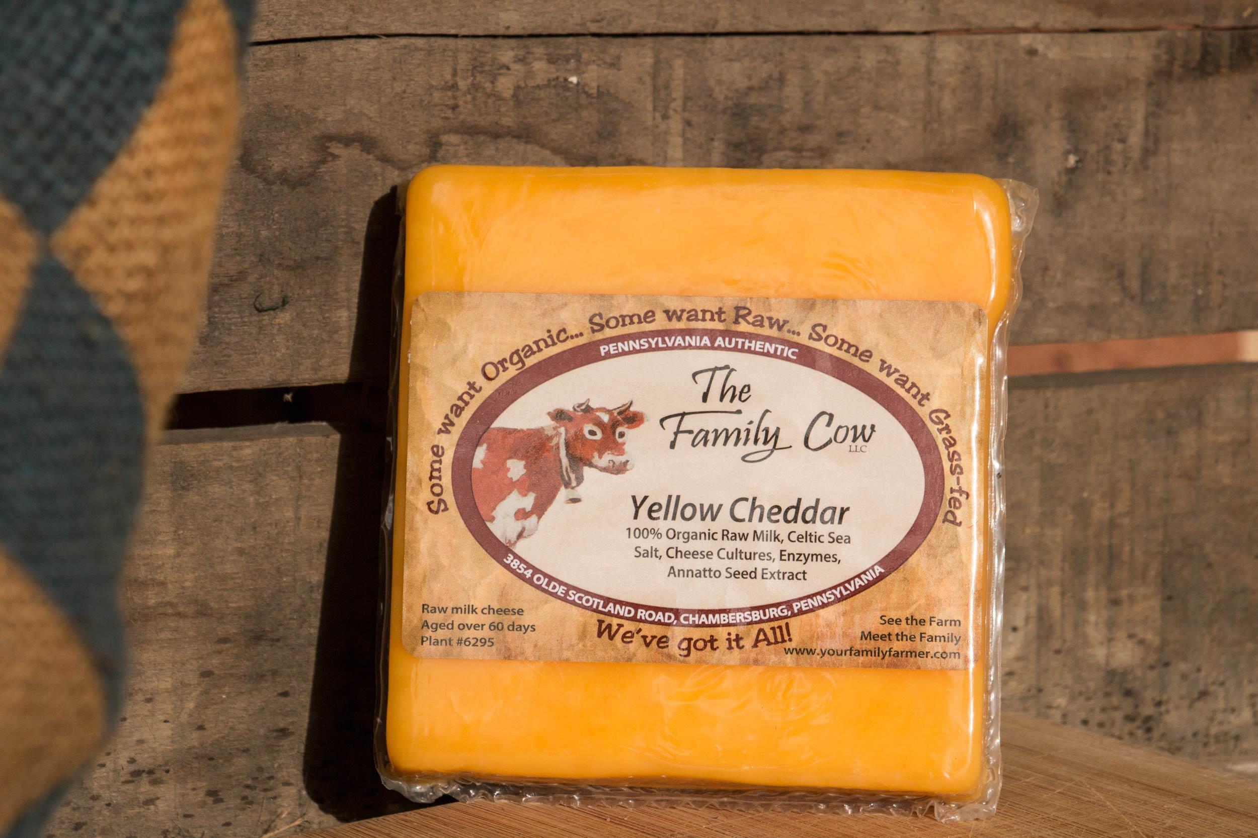 Yellow Cheddar - 1/2 lb. avg. Block