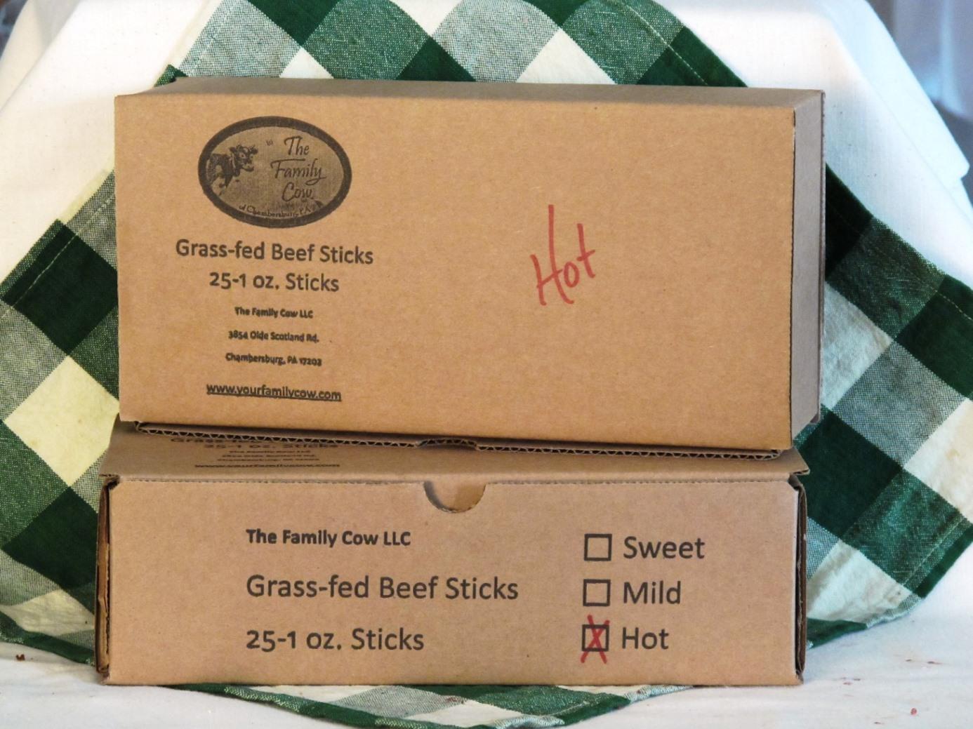 Case Hot Beef Sticks