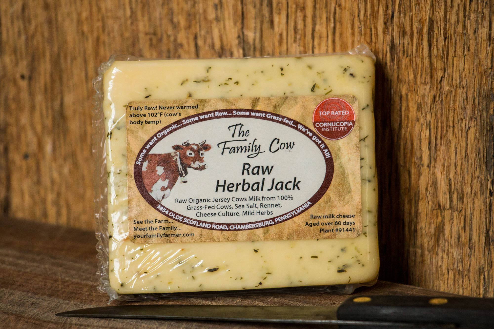 Raw Herbal Jack Cheese
