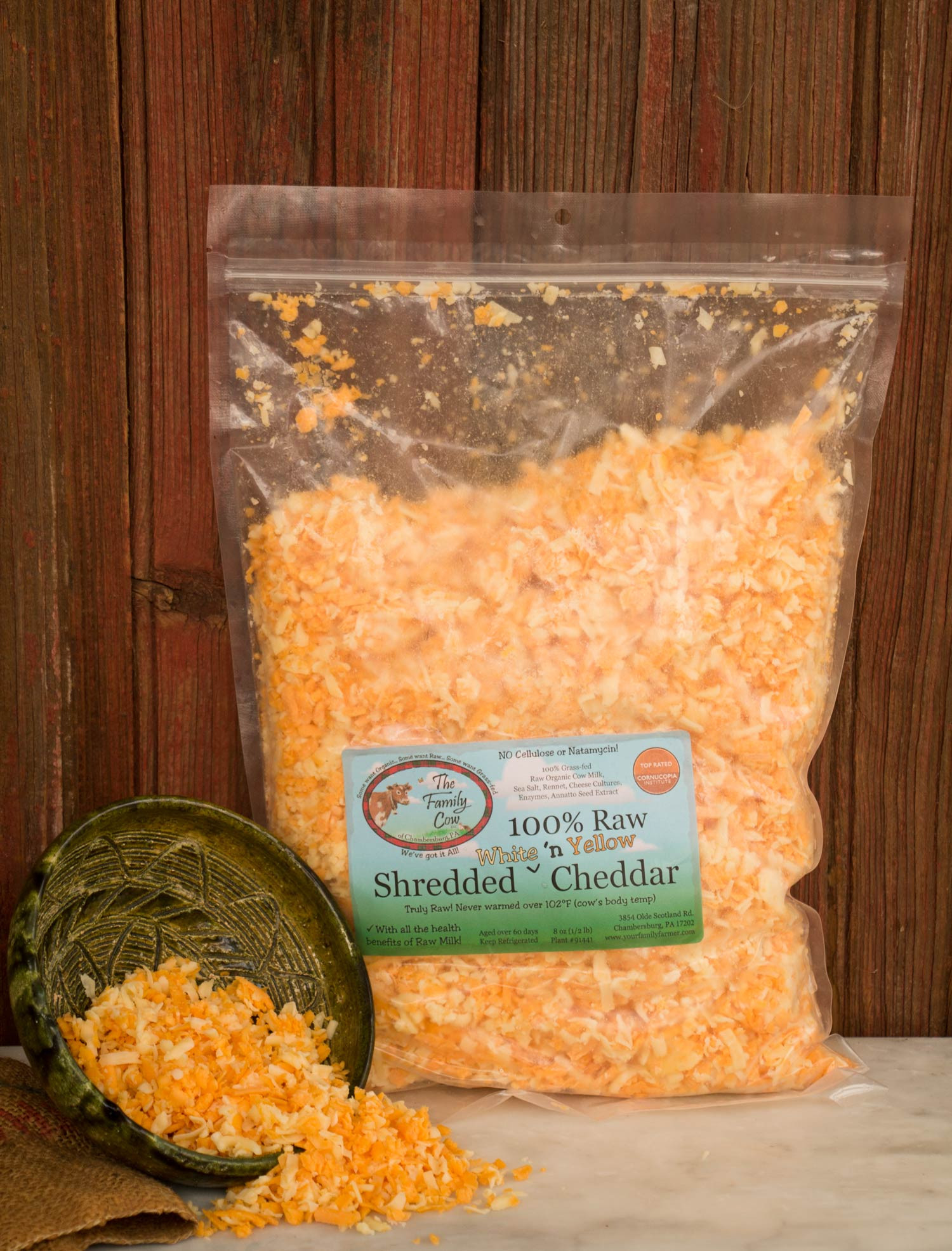 Large Shredded White & Yellow Cheddar Mix