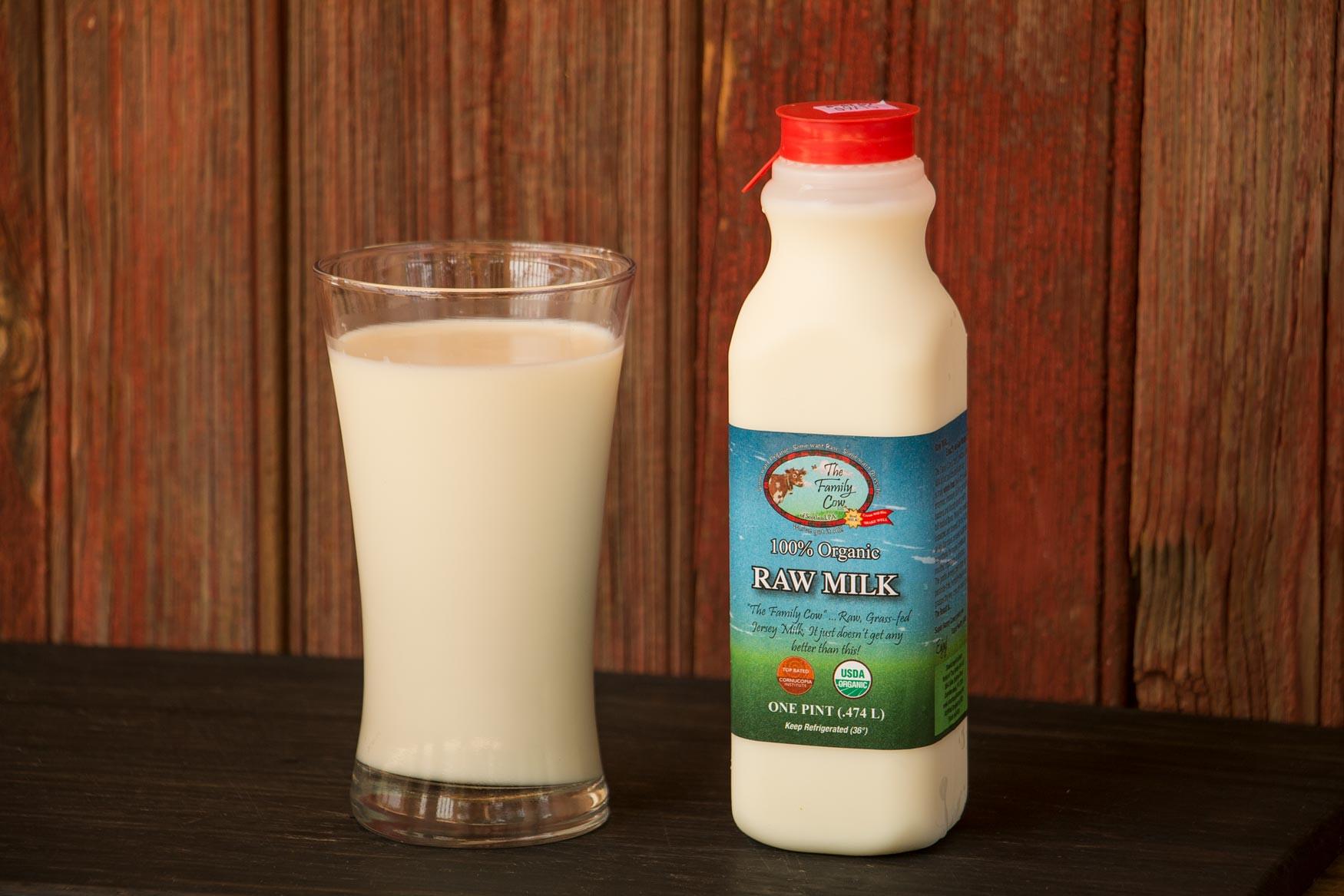 Pint Raw Cow Milk