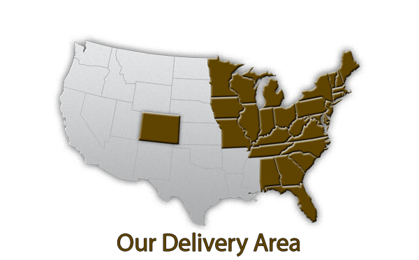 The Family Cow UPS Home Delivery Area Map