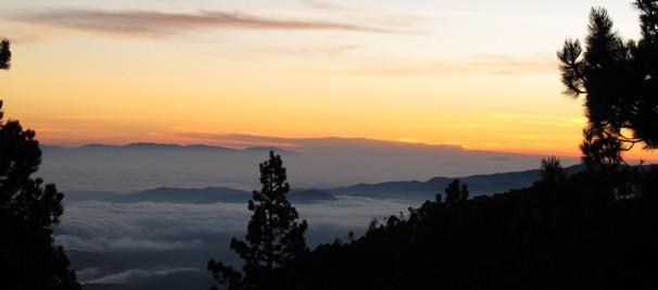 From the top of Tajumulco Volcano in Guatemala