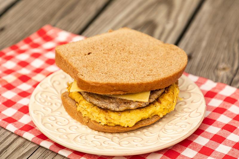 Sunrise Egg Sausage Sandwich