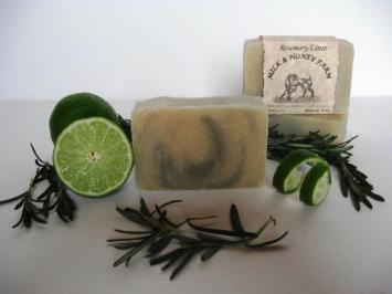 Goat Milk Soap - Rosemary Lime - 4 oz. Bar