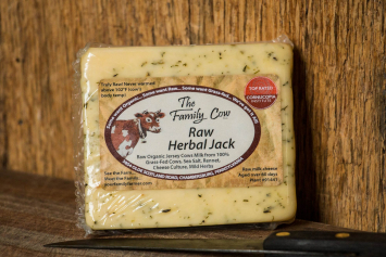 Raw Herbal Jack Cheese - 1/2 lb. avg. Block