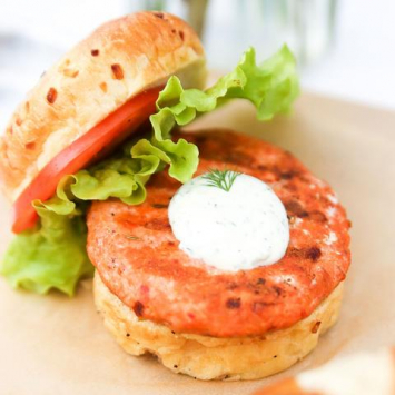 Spicy Salmon Burger Patties