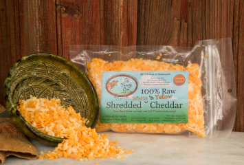 Small Shredded White & Yellow Cheddar Mix  (1/2 lb.)