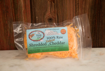 Small Shredded Yellow Cheddar (1/2 lb.)