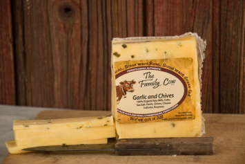 Garlic & Chives Cheddar - Case  (10 blocks)