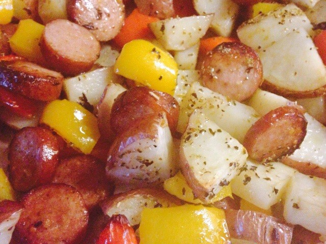 Smoked Sausage and Potato Bake