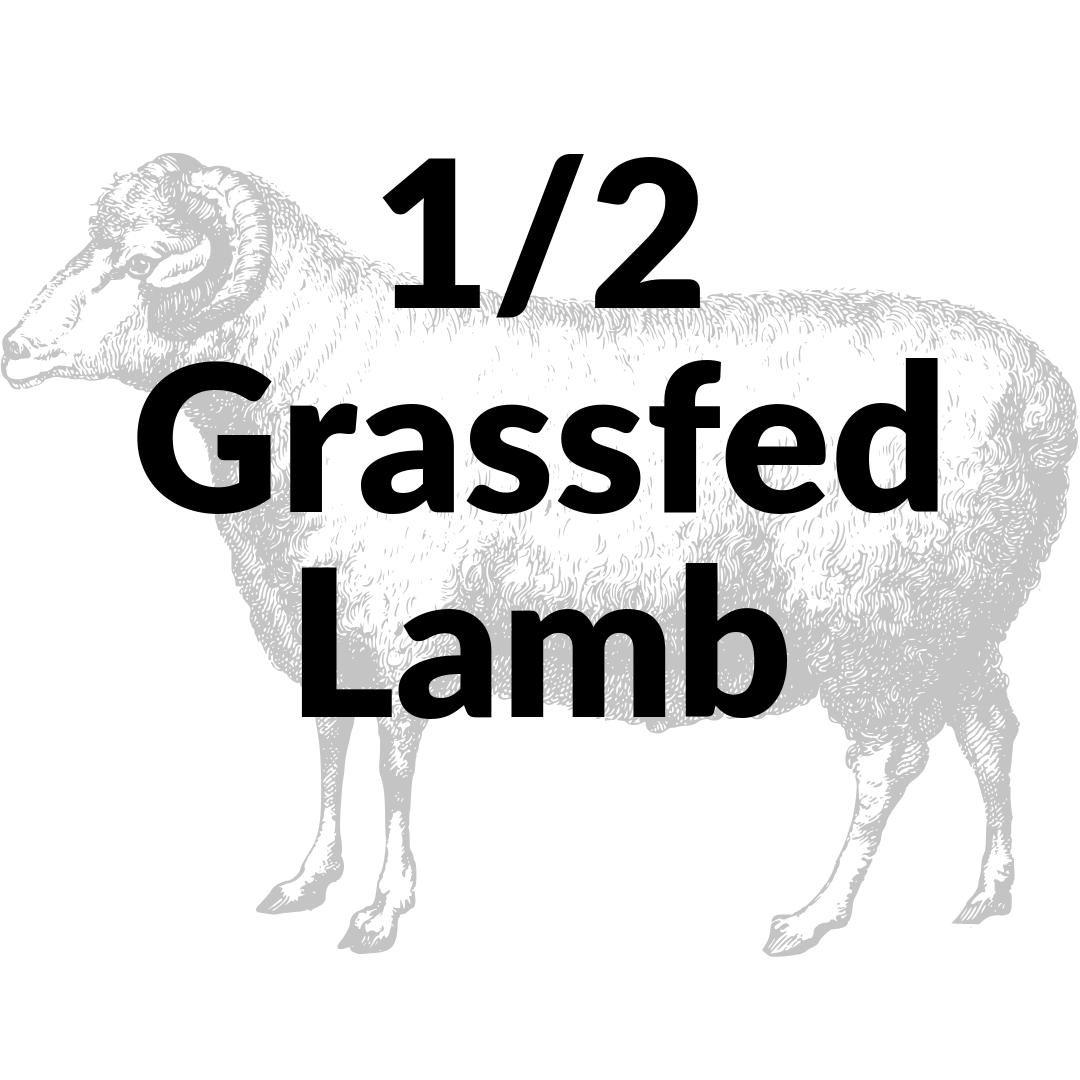 Bulk Grassfed Lamb 1/2 NonRefundable Deposit