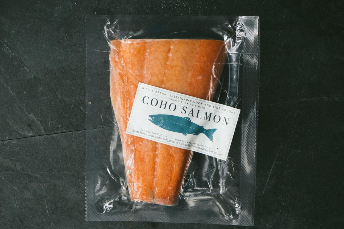 Coho Salmon Portion - Idaho Local Fisherman