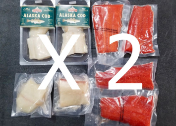 2 X Wild Alaskan Seafood Bundle